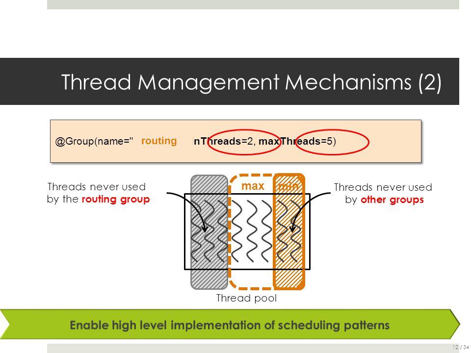 Thread Management Mechanisms (2) @Group(name=