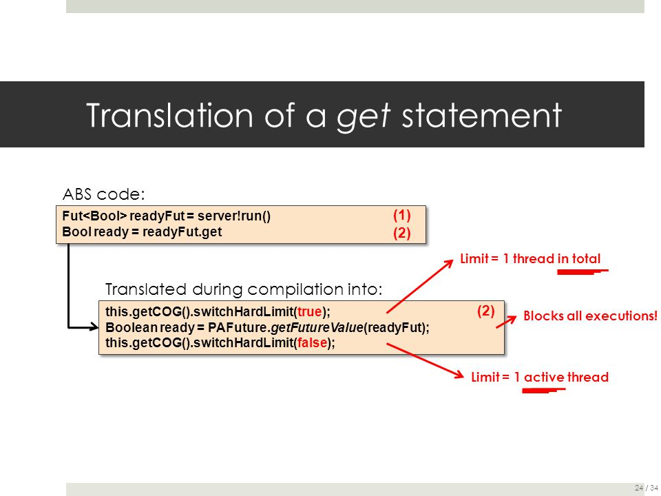 Translation of a get statement this.getCOG().switchHardLimit(true); Boolean ready = PAFuture.getFutureValue(readyFut); this.getCOG().switchHardLimit(f
