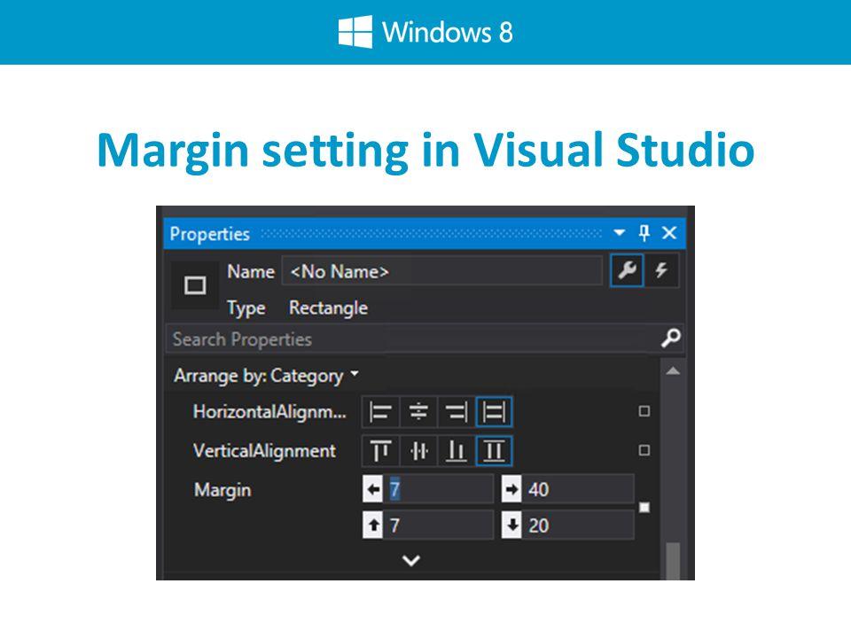 Margin setting in Visual Studio