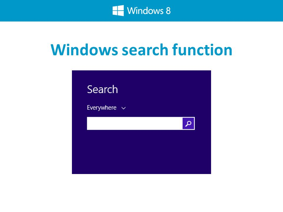 Windows search function