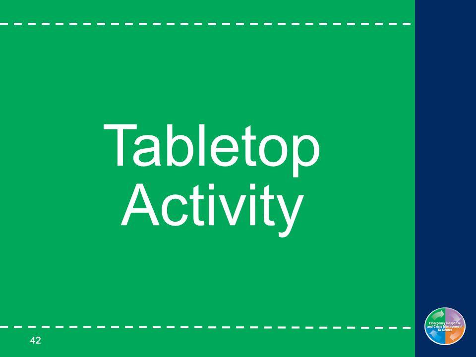 42 Tabletop Activity