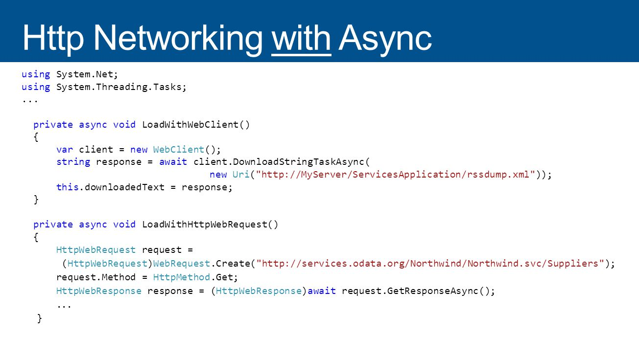 using System.Net; using System.Threading.Tasks;...