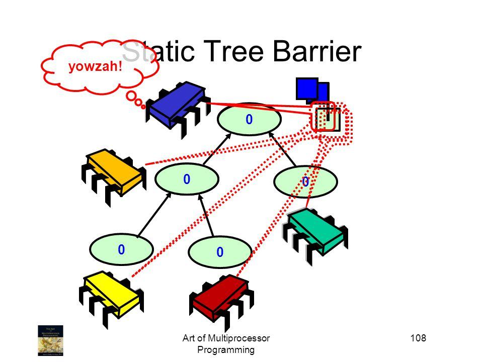 1 0 10 Art of Multiprocessor Programming 108 0 Static Tree Barrier 0 0 yowzah!