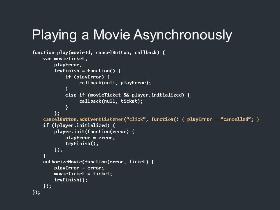 Event Subscription // subscribe var handler = (e) => console.log(e); document.addEventListener( mousemoves , handler); // unsubscribe document.removeEventListener( mousemoves , handler);