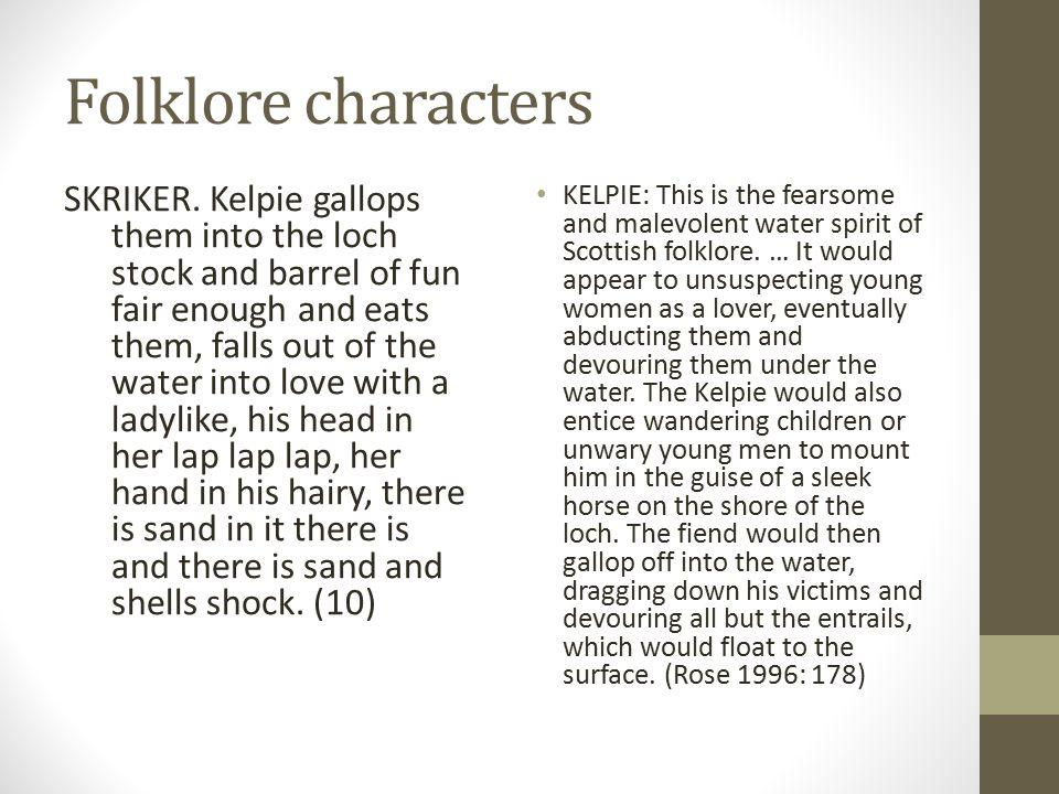 Folklore characters SKRIKER.