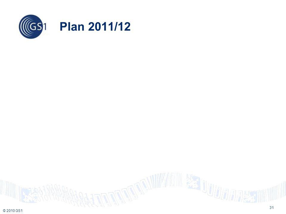 © 2010 GS1 Plan 2011/12 31