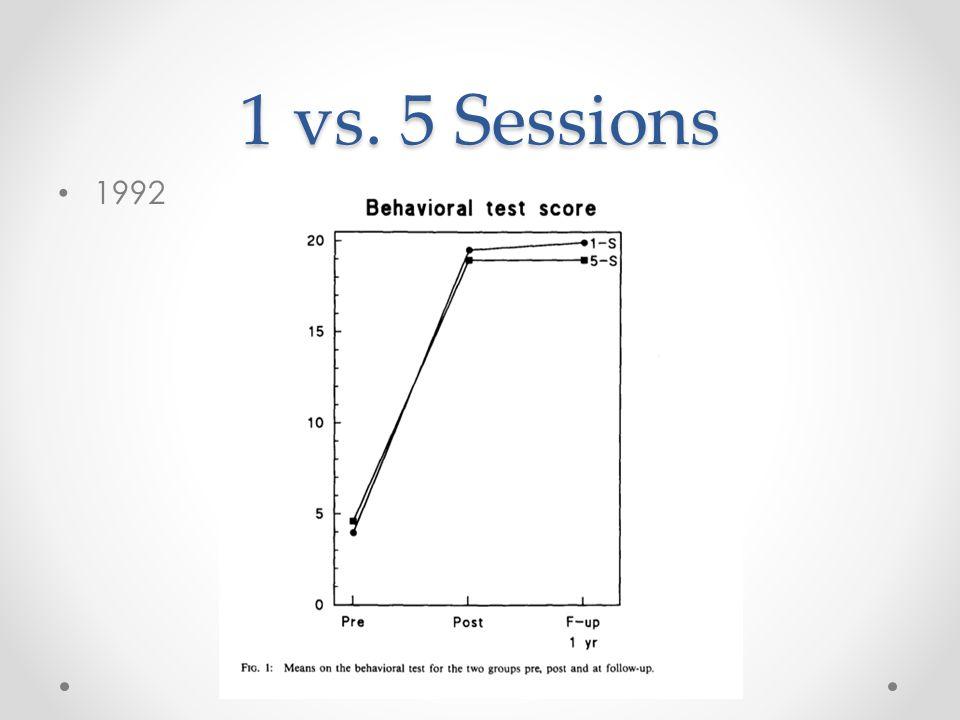 1 vs. 5 Sessions 1992