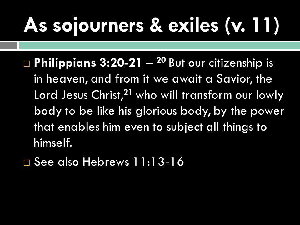 Jesus, the Sojourning King.