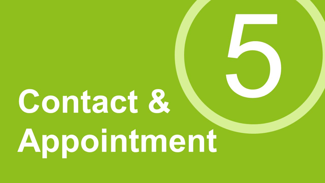 5 Contact & Appointment