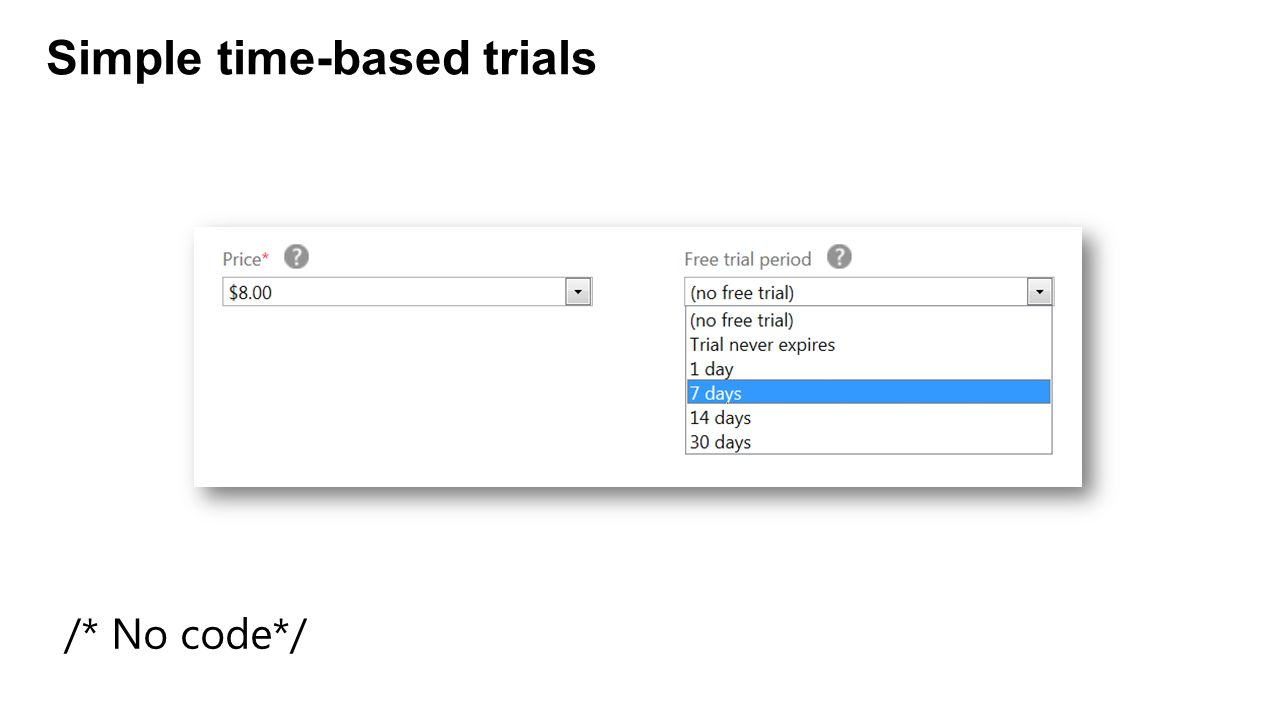 Simple time-based trials