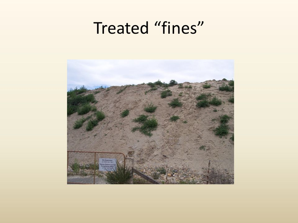 "Treated ""fines"""