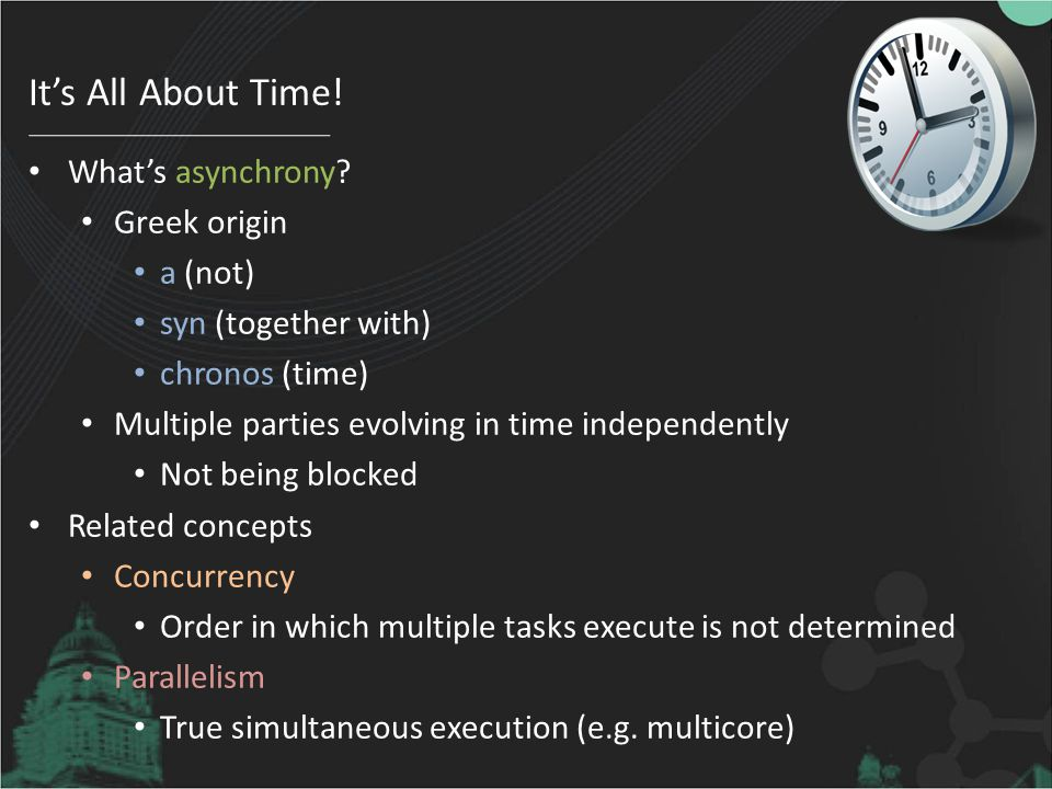 It's All About Time.What's asynchrony.