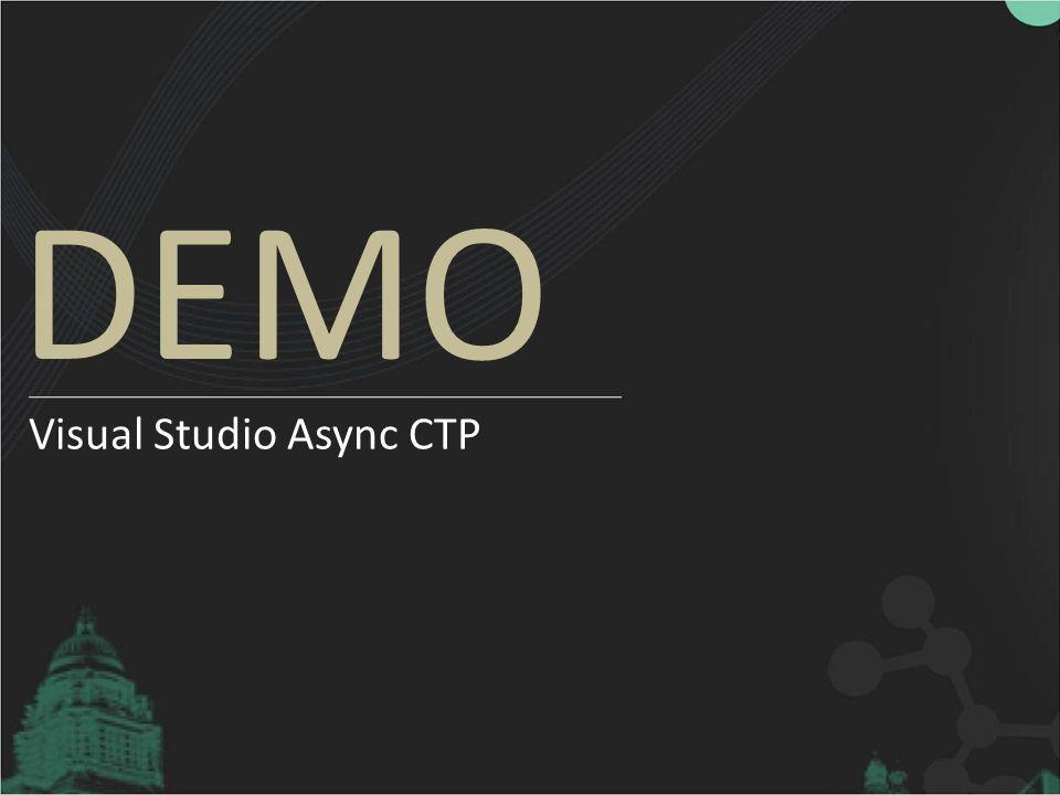 DEMO Visual Studio Async CTP