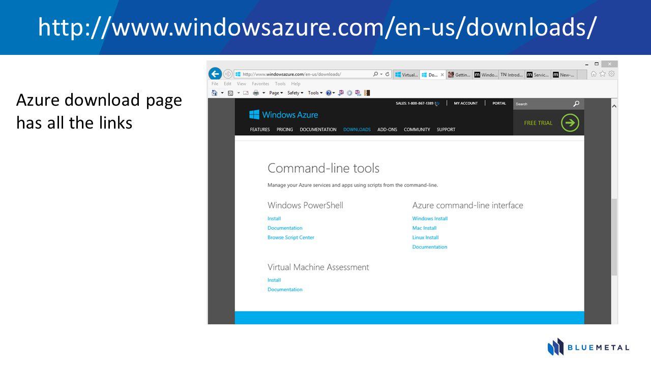 http://www.windowsazure.com/en-us/downloads/ Azure download page has all the links