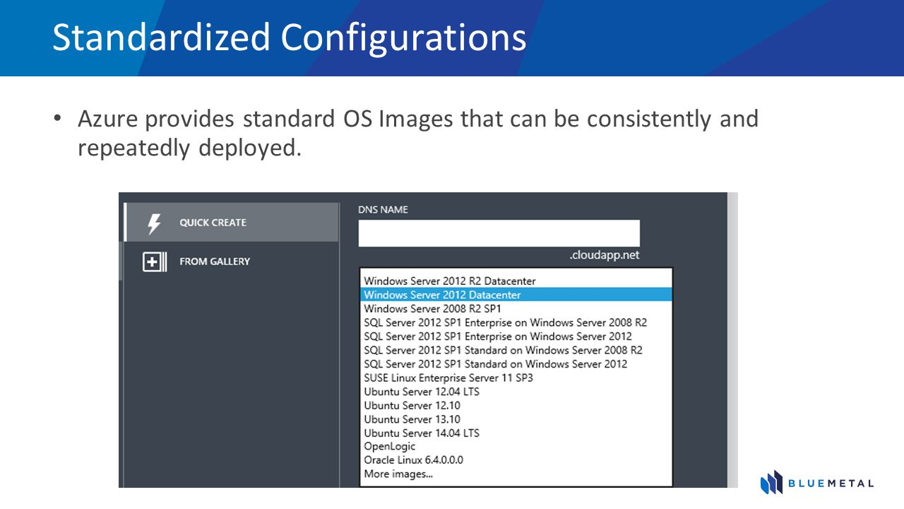 Customize and Capture Start with a standard image and create a custom image.