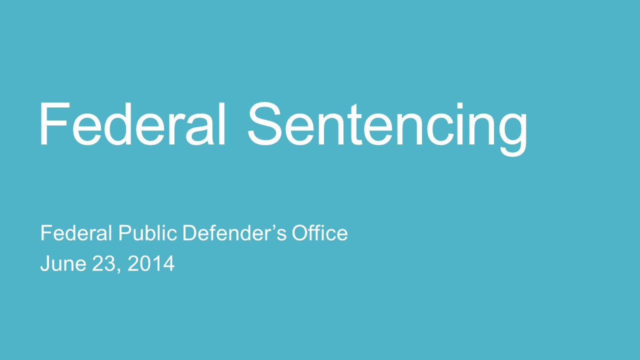 Federal Sentencing  Tell the human story of your client;  Provide the Judge with: (1) alternatives to incarceration or excessive punishment; and (2) evidence of what works to achieve the purposes of sentencing