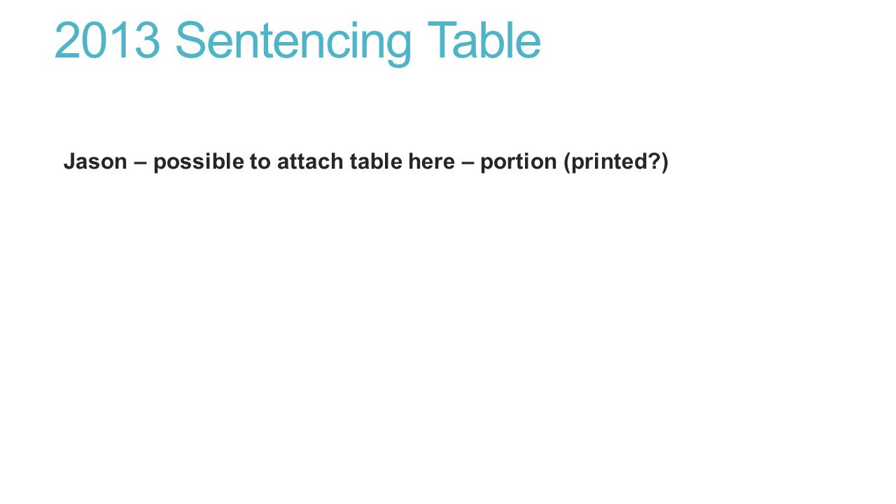2013 Sentencing Table Jason – possible to attach table here – portion (printed )