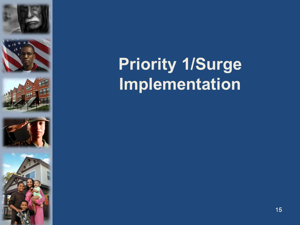 Priority 1/Surge Implementation 15