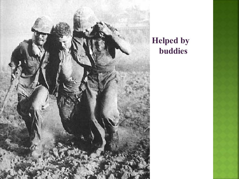 Helped by buddies