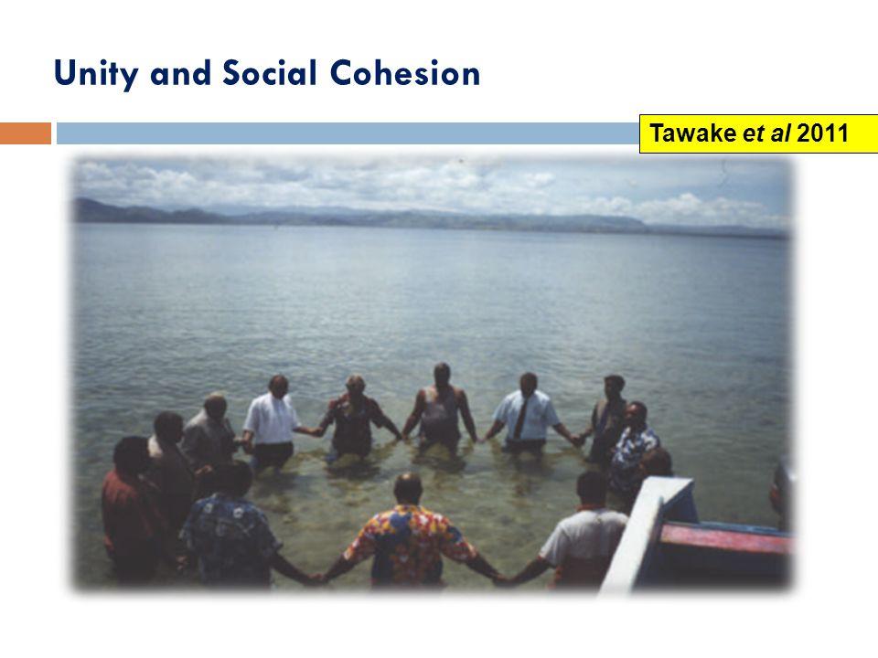 Unity and Social Cohesion Tawake et al 2011