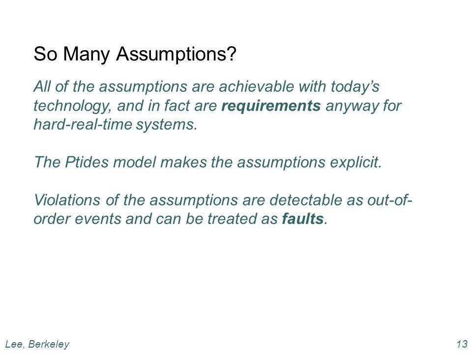 So Many Assumptions.