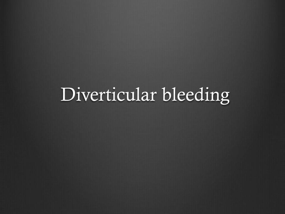Diverticular bleeding