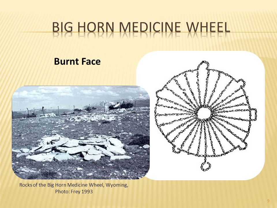 9 Rocks of the Big Horn Medicine Wheel, Wyoming, Photo: Frey 1993 Burnt Face