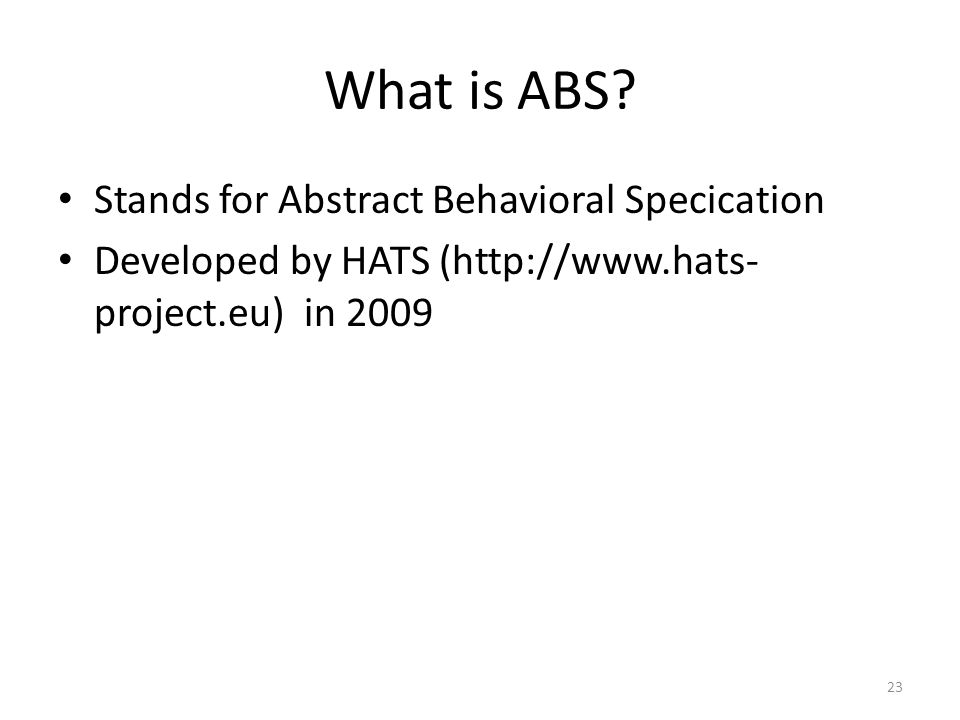 What is ABS.