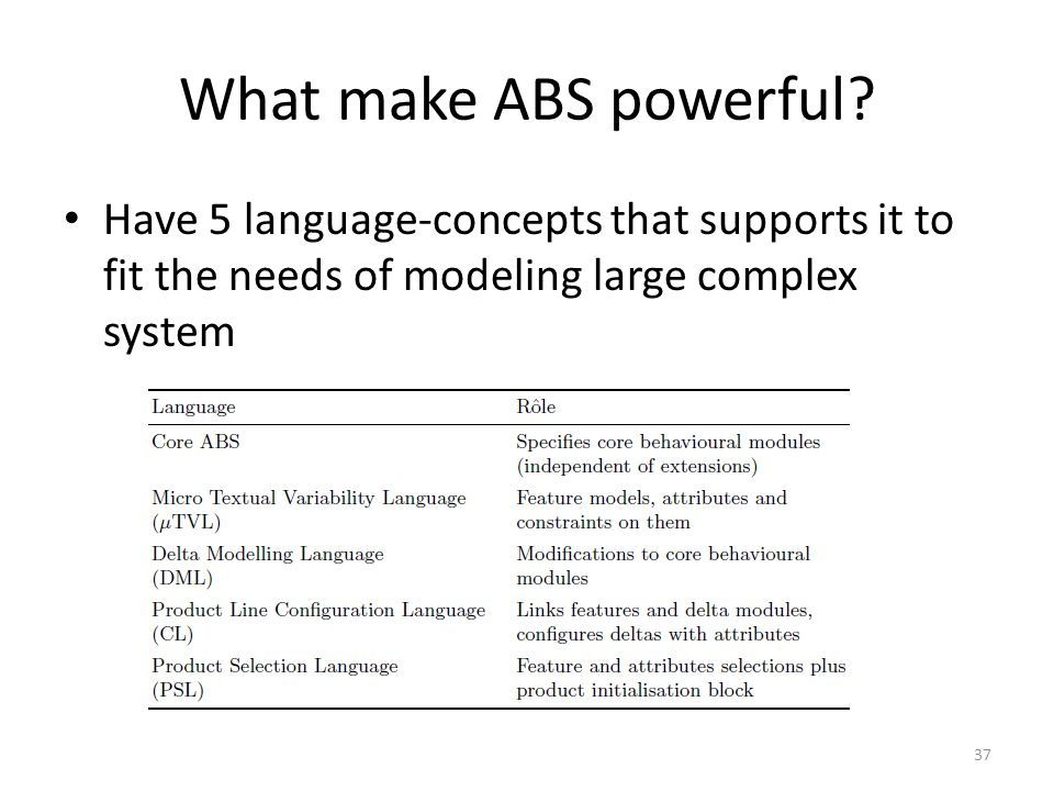 What make ABS powerful.