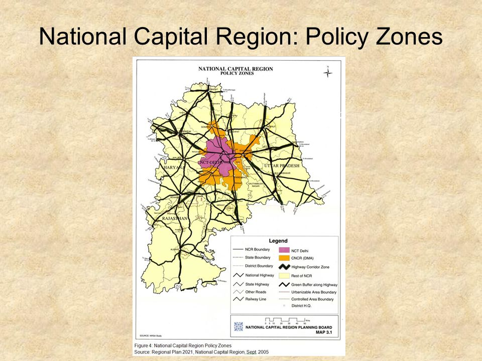 National Capital Region: Policy Zones