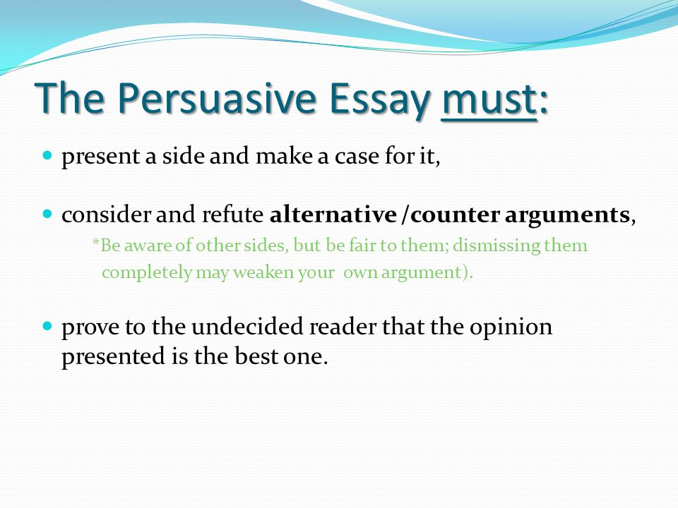 good arguments for persuasive essays Do you have an assignment on argumentative essay topics and have no clue where to start no need to worry, we have prepared a list of 400 topics check.