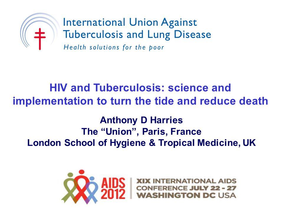 Post-trial (no IPT) n=1678 6H 36H Cumulative TB incidence in the in-trial & post- trial period by study arm for all participants Cumulative TB incidence P=0.04 P=0.52 6H36H 6m v 36 m IPT in trial n=1995 6H 36H Botswana IPT Study Samandari et al, Lancet 2011; 377: 1588 – 1598; Samandari et al, CROI 2012