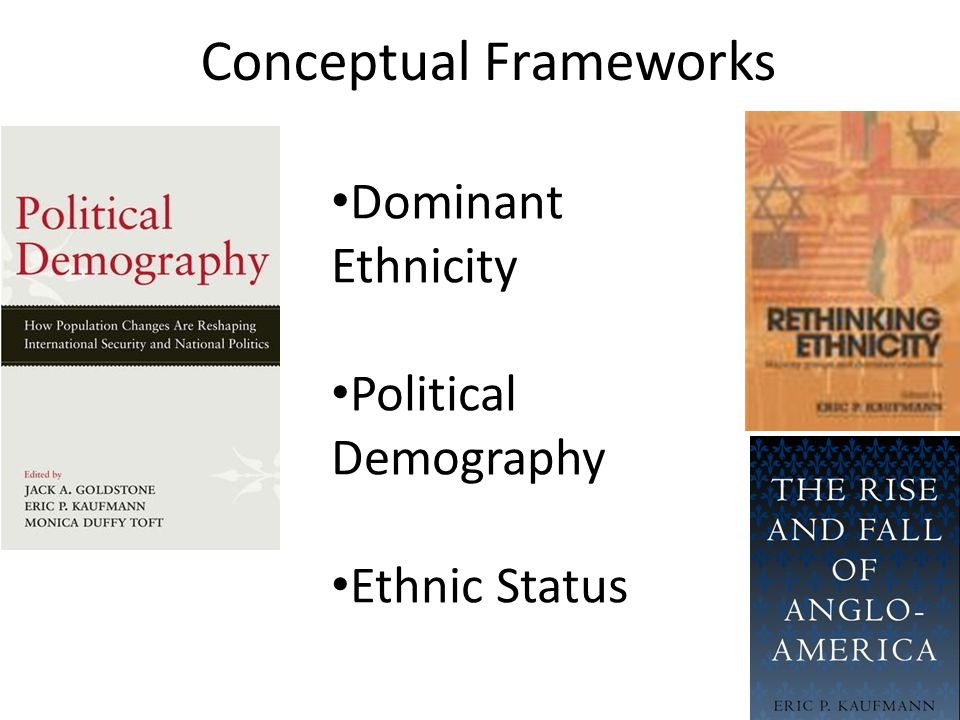 Conceptual Frameworks Dominant Ethnicity Political Demography Ethnic Status