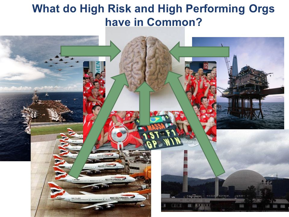 What do High Risk and High Performing Orgs have in Common