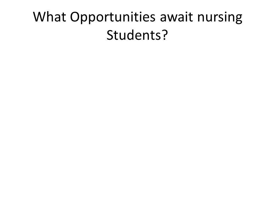 What Opportunities await nursing Students?