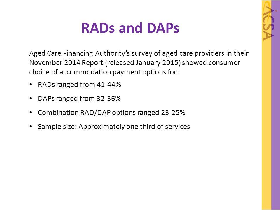 RADs and DAPs