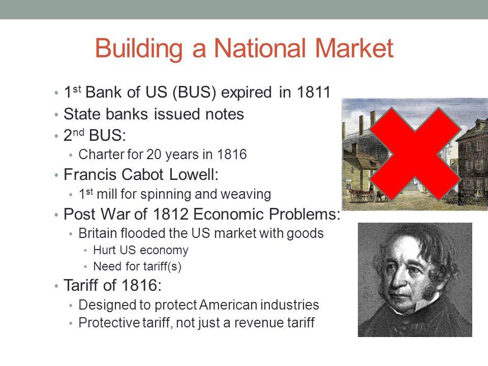 Building a National Market Cont.