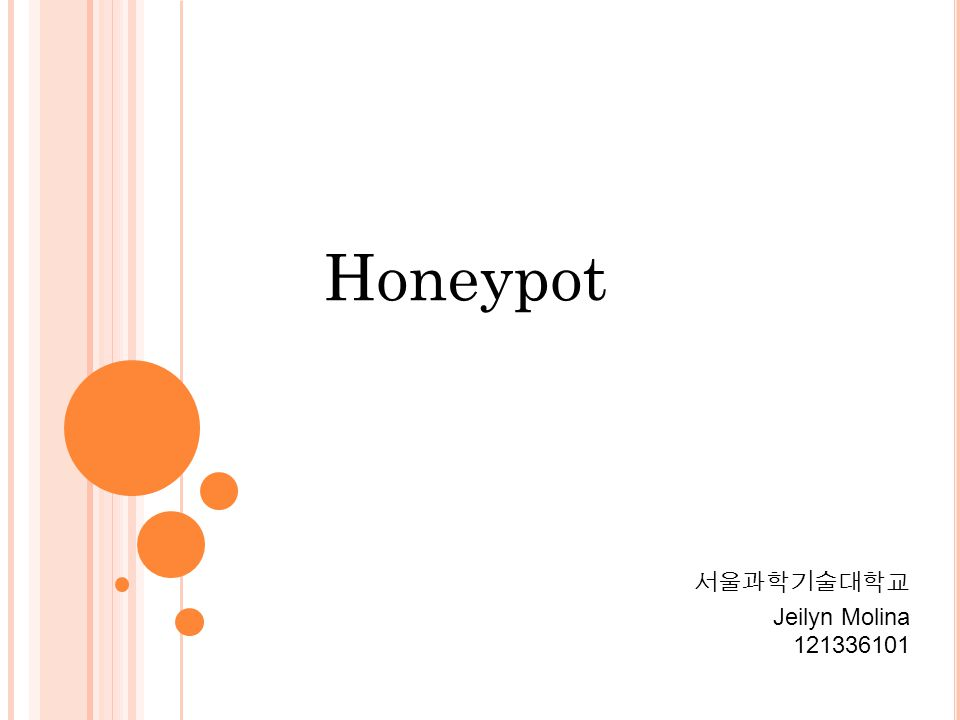 Honeypot 서울과학기술대학교 Jeilyn Molina 121336101