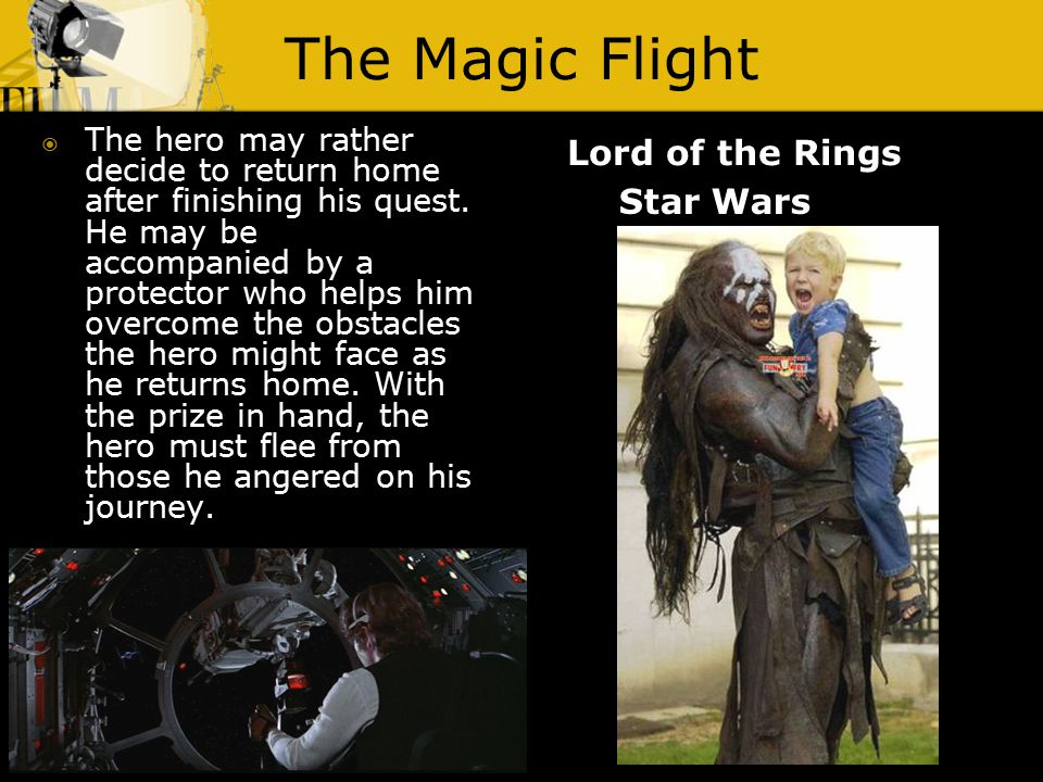 The Magic Flight Lord of the Rings  The hero may rather decide to return home after finishing his quest. He may be accompanied by a protector who hel