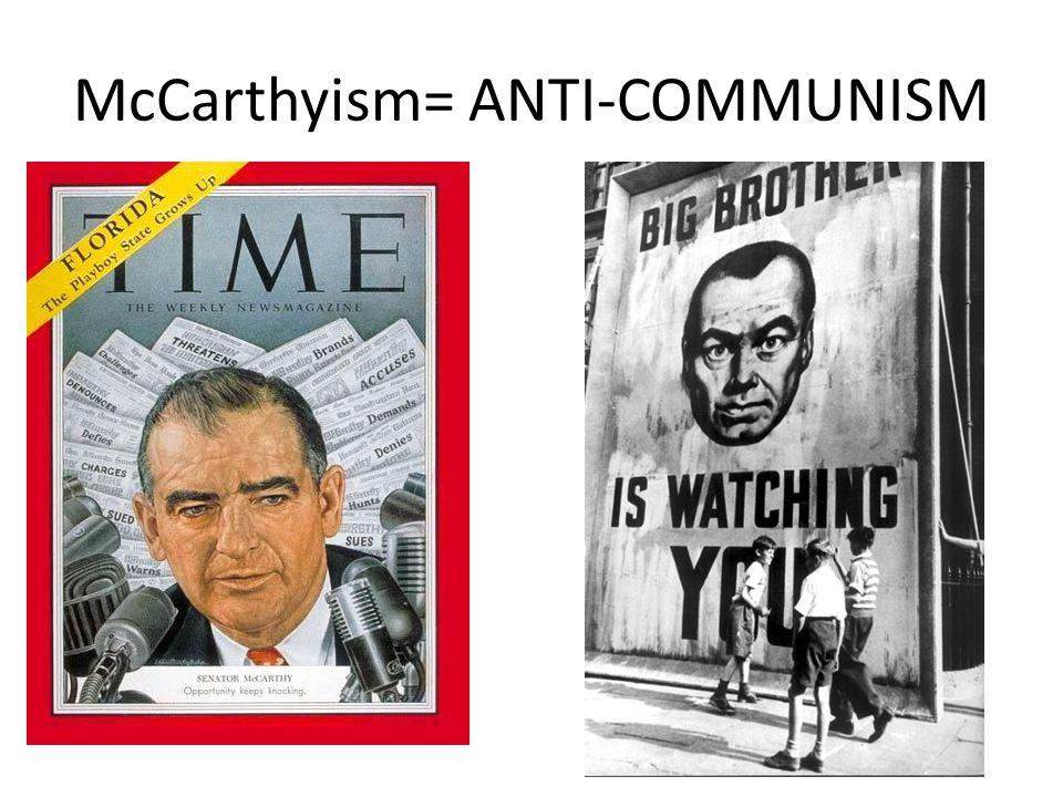 Senator McCarthy Established House Committee of Un-American Activities (HUAC)