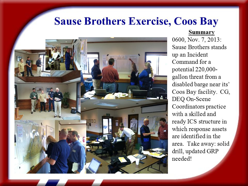Sause Brothers Exercise, Coos Bay Summary 0600, Nov.