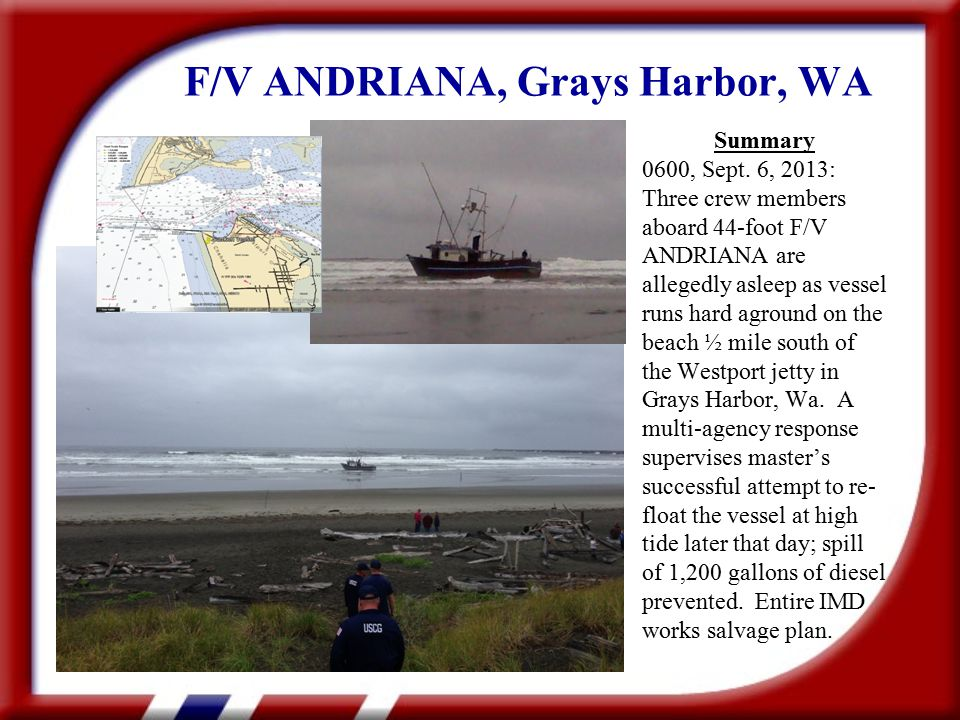 F/V ANDRIANA, Grays Harbor, WA Summary 0600, Sept.