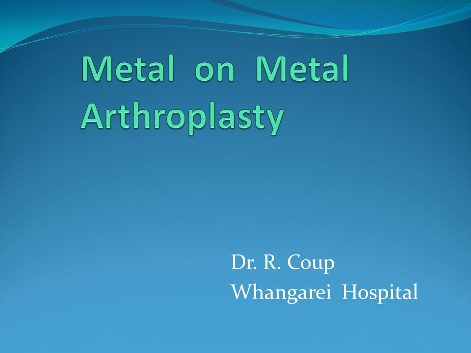 Dr. R. Coup Whangarei Hospital