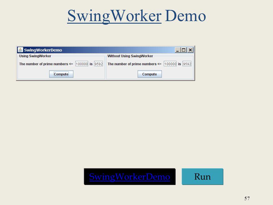 57 SwingWorker Demo Run