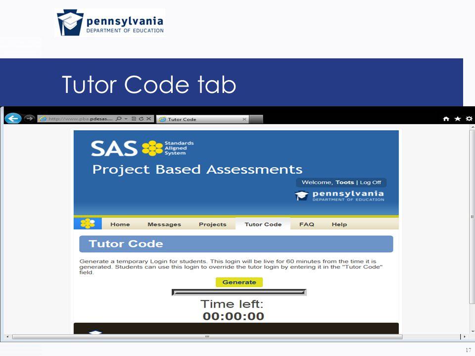 Tutor Code tab 17