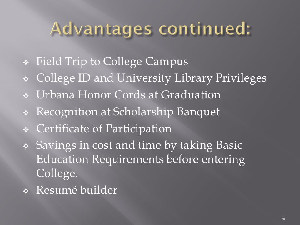  September 1, 2011 Parent/Student Orientation  September 2, 2011 Applications given out  September 8, 2011 Applications due to Guidance office by 3pm  September 29, 2011 Registrations due to Guidance Office by 3pm.