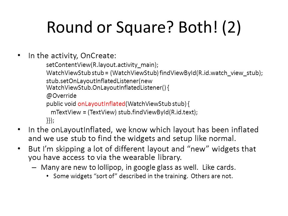 Round or Square. Both.