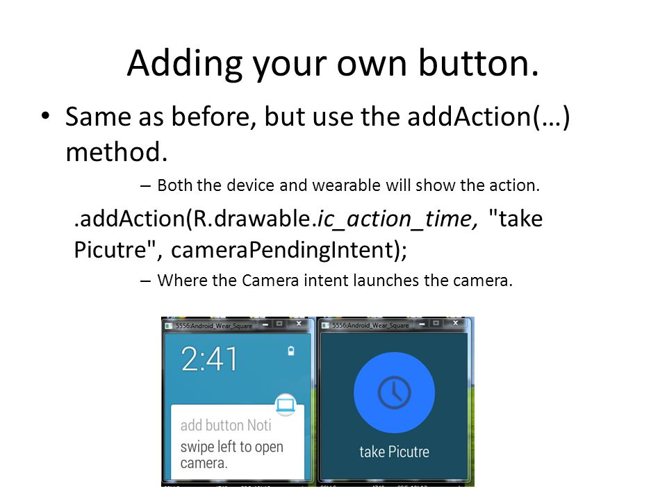 WatchFaces Studio will provide you with two possible watch face apps.