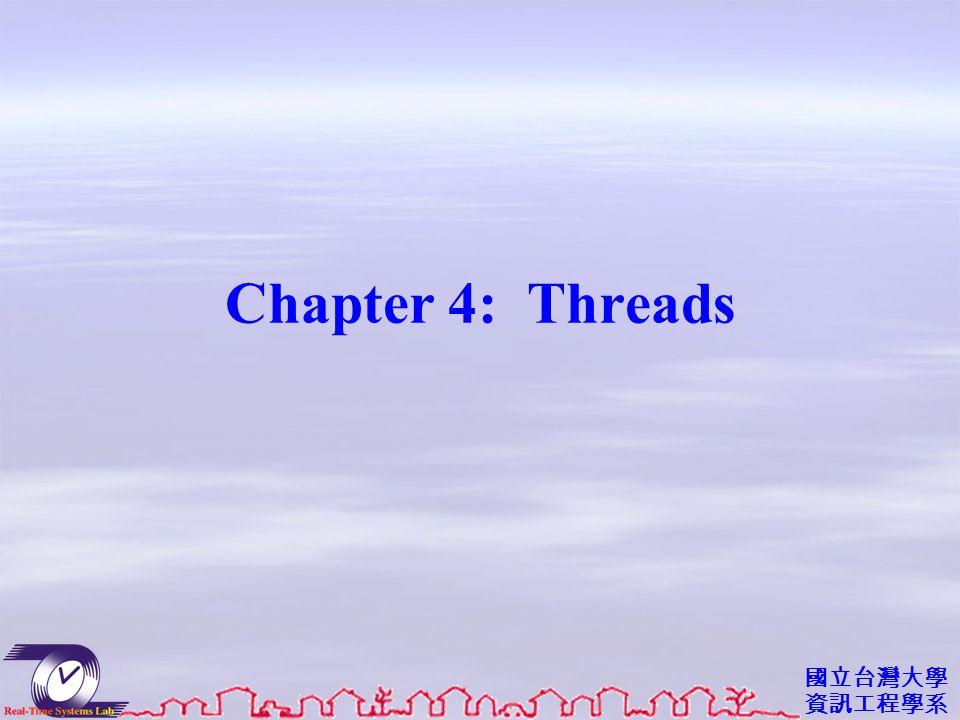 國立台灣大學 資訊工程學系 Chapter 4: Threads