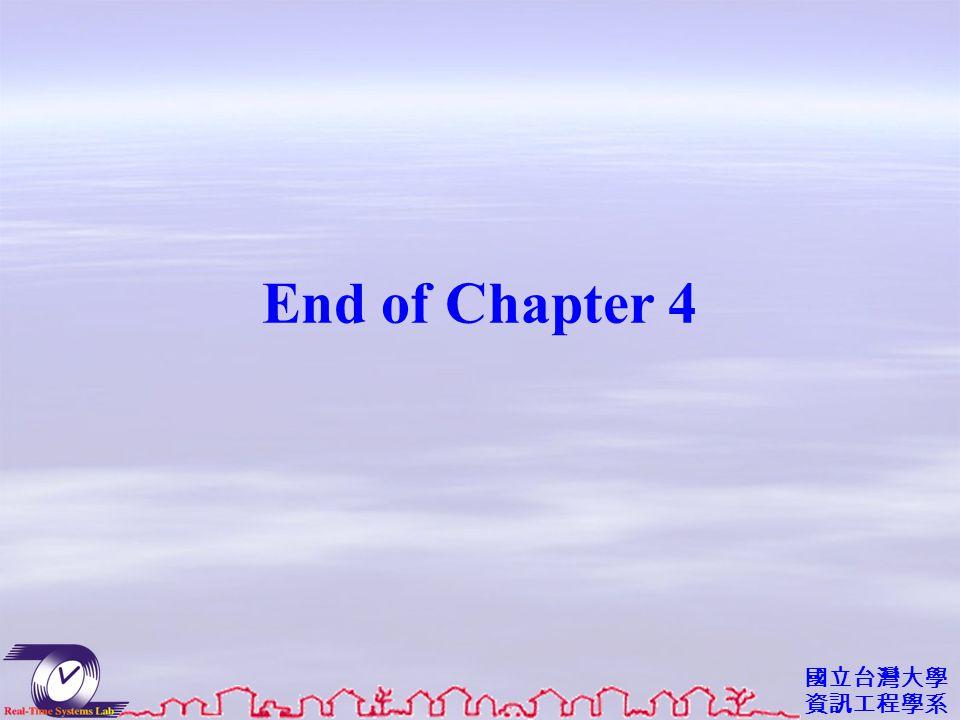 國立台灣大學 資訊工程學系 End of Chapter 4